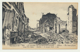 BAILLEUL-  Rue St Jacques -les Ruines De La Grande Guerre - France