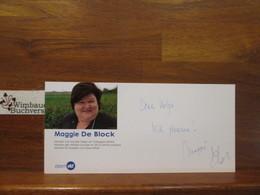 Original Autogramm Maggie De Block Flämische Ministerin /// Autogramm Autograph Signiert Signed Signee - Autographes