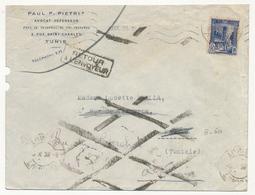 TUNISIE - Env. En Tête Pietri (Avocat) De Tunis 1939 - Destinataire Inconnu. - Lettres & Documents