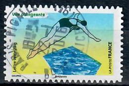 Yt Aa1186-1 Vue Plongeante Natation Cachet Rond - Oblitérés