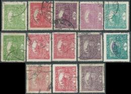 1919 CECOSLOVACCHIA USATO CASTELLO DI PRAGA 13 VALORI - RC18-3 - Gebraucht
