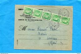 MARCOPHILIE-  Bande  De 5 Marianne De Mazelin -N°680X 5= 2rs Sur -lettre Commerciale - Other