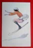 CP Skieuse Rétro/Vintage - Künstlerkarten