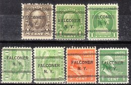 USA Precancel Vorausentwertung Preo, Locals New York, Falcorner 243, 7 Diff., Perf. 11x10 1/2 - Estados Unidos