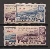 Inini - 1941-44 - N°Yv. 51 - 52 - 57 - 58 - Pétain - Neuf Luxe ** / MNH / Postfrisch - Inini (1932-1947)