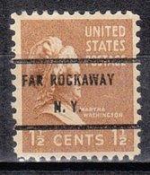 USA Precancel Vorausentwertung Preo, Bureau New York, Far Rockaway 805-71 - Vorausentwertungen