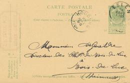 DDW682 - Entier Postal Armoiries EELEN 1904 Vers HOUDENG - Cachet Privé Henry , Bois Et Charbons à ROTHEM (Limburg) - Entiers Postaux