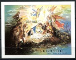Lesotho, 1980, Christmas, Painting, Religion, MNH, Michel Block 7 - Lesotho (1966-...)
