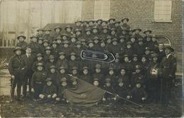 Enghien : Carte Photo : Sur Le Drapeau ' Bois Scouts ' - Enghien - Edingen