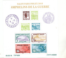 France 5226 5233 2018 Parisphilex 2018 Orphelins  F  Tirage 40 000 Neuf TB ** MNH Sin Charnela Faciale 30 Euros - Unused Stamps