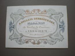 ISEGHEM - MAGASIN DE TOILES DE COURTRAI - ANGILLES-DEBROUCKERE - PORCELEINKAART 10 X 7 - Izegem