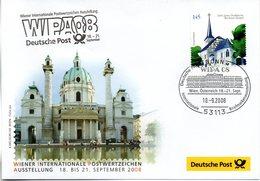 "BRD Offizieller Messebeleg ""WIPA'08, 16.-25. September WIEN ÖSTERREICH"" EF BRD  Mi 2646 SSt 18.9.2008 BONN - [7] Repubblica Federale"