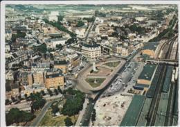 ARRAS VUE GENERALE AERIENNE LA PLACE DE LA GARE 1966 TBE - Arras