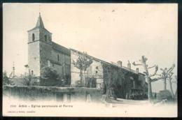 ARBIN église Paroissiale Et La FERME édition A.perrin  Superbe Carte Trés Rare FRCR00003 P - Montmelian
