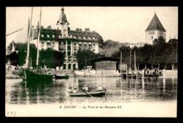SUISSE - LAUSANNE - OUCHY - LE PORT ET LES BARQUES - VD Vaud