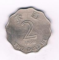 2 DOLLAR 1998 HONGKONG /2246/ - Hong Kong