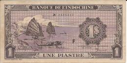 INDOCHINE   1  Piastre   Nd(1942)  -- Spl --   Indo-china  AUnc - Indochina