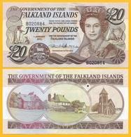 Falkland Islands 20 Pounds P-19 2011 UNC Banknote - Islas Malvinas