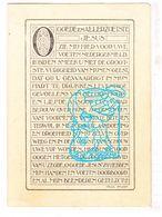 DP Achiel Denys ° Roeselare 1878 † 1933 X H. Xx M. Schelpe / Vlaamse Beweging / Almanak Manneke Ud Mane - Andachtsbilder