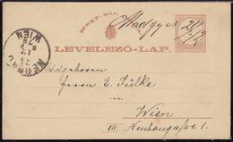 Medias (Medgyas, Now Rumania), 2 Kr. Postcard, Cancelled By Manuscript, 1879 - Cartas