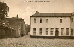 Photo, Wavre : L'école Moyenne Des Garçons Photo D'une Ancienne Carte Postale, 2 Scans - Lieux