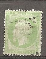 Yv. N° 20e  (o)  5c Vert Clair Napoléon III  Cote  15euro BE R  2 Scans - 1862 Napoléon III.