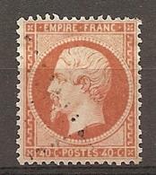 Yv. N° 23b  (o)  40c Orange Vif Napoléon III  Cote  20  Euro BE   2 Scans - 1862 Napoleon III