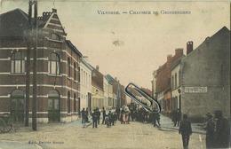 Vilvoorde  :  Chaussée De Grimbergen    (  Geschreven 1908 Met Zegel )    KLEUR - Vilvoorde