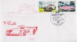 Enveloppe  FRANCE   24  HEURES  DU  MANS   2000 - Cars