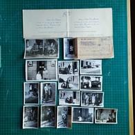 86. MONTMORILLON Lot 16 Photos Originale (1943 ?) + 2 Documents / Sid-Car, Traction, - Montmorillon