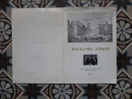 Ath Folklore Athois 1976 45 Tours + Jeu De L'oie Avec Vignettes Miniatures Papier Des Géants Et Des Rues D'Ath - Documentos Históricos