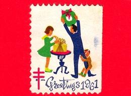 USA - STATI UNITI - Usato - 1961 - Natale - Greeting - Christmas - Regali - TBC - Etichette - Stati Uniti