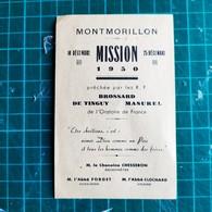 86. MONTMORILLON, Mission 1950 BROSSARD DE TINGUY MASUREL - Chamoine CHESSERON, Abbé FORGET, CLOCHARD - Religion & Esotérisme