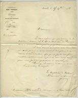 Lettre De Nomintation Du Chirurgien Blanchard à Pernes Pour Les Paquebots Des Postes. Administration Des Postes. 1842. - Maritime Post