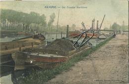 Vilvoorde    Les Travaux Maritimes     (  Geschreven 1908 Met Zegel )    KLEUR (  Binnenscheepvaart Boot Bateau ) - Vilvoorde