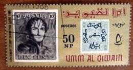 1966 UMM AL QIWAIN Filatelia Mostra Filatelica Stamps From Belgium And Egypt  50np - Usato - Umm Al-Qiwain