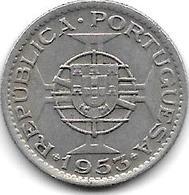 Mozambique 2,5 Escudos 1953 Km 78   Vf+ - Mozambique