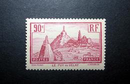 FRANCE 1933 N°290 ** (LE PUY-EN-VELAY. 90C ROSE-LILAS) - Nuovi
