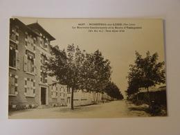 HAUTE LOIRE-MONISTROL SUR LOIRE-4427-LA NOUVELLE GENDARMERIE ET ROUTE DE YSSINGEAUX ED MB-ANIMEE - Monistrol Sur Loire