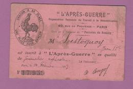 """Carte De """" L 'Après - Guerre """" Daté De 1917 - 1914-18"""