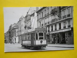 Photo J.Bazin ,gare , Train ,tramway, Belfort,devant Le Modern Hotel - Trains