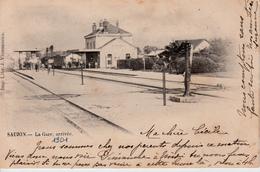 17   SAUJON   LA GARE ARRIVEE  1901 - Saujon