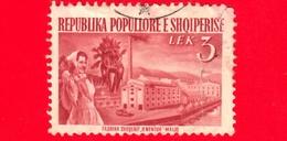 ALBANIA - Usato - 1953 - Ricostruzioni - Sugar Factory, Maliq - 3 - Albanië