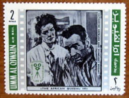1969 UMM AL QIWAIN Cinema Attori Katharine Hepburn Humphery Bogart  2np - Usato - Umm Al-Qiwain