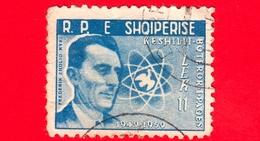 ALBANIA - Usato - 1959 - 10 Anni Del Movimento Della Pace Nel Mondo - Frédéric Joliot-Curie (1900-1958) - 11 - Albanien