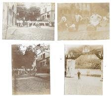 4 Photos - Paris ( 15 ) Caserne VIOLET - Pompiers De Paris - 14 Juillet 1905 - Pas Cartes Postales - - Artisanry In Paris
