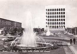 ROMA EUR - VIALE DELLA CIVILTA' DEL LAVORO - FONTANA - 1964 - Expositions