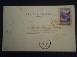 ANDORRE ANDORRA VALLEE 76 ENVELOPPE LETTRE LETTER COVER CENSURE AY CARTE POSTALE CP BORDEAUX GIRONDE - Lettres & Documents