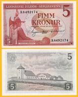 Iceland 5 Kronur P-37b 1957 UNC Banknote - IJsland