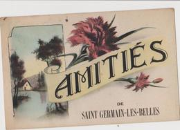 AMITIES De Saint GERMAIN Les Belles (87) CPA - Oeillets - Saint Germain Les Belles